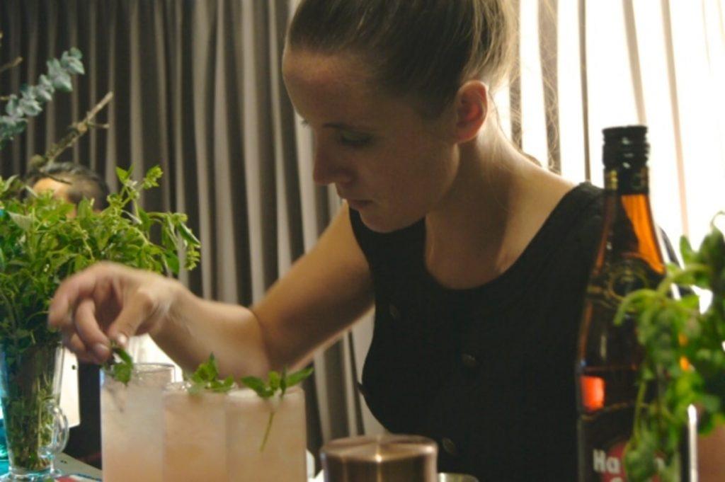 preparación de bartender