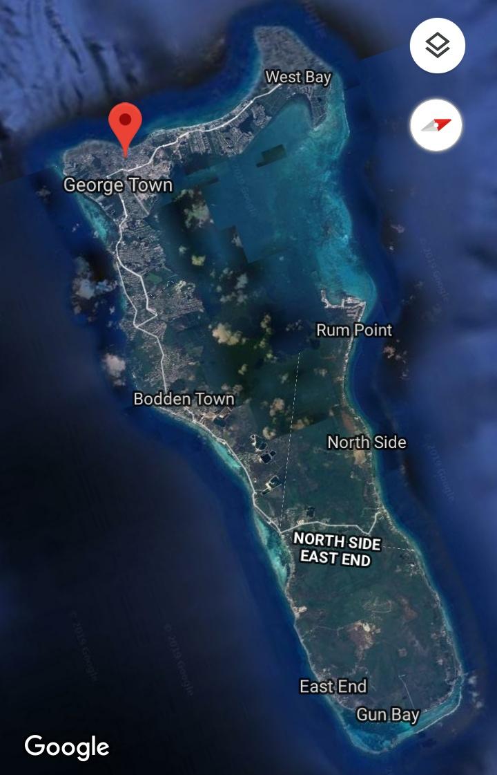 Isla-gran-Caimán-google-maps