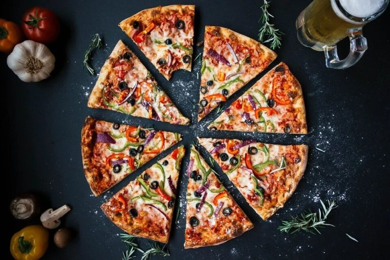 pizza de jamón serrano