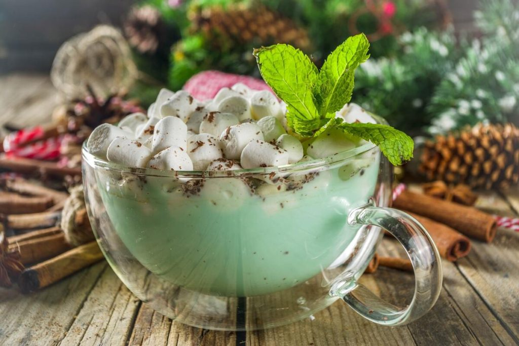 recetas con chocolate  blanco con menta
