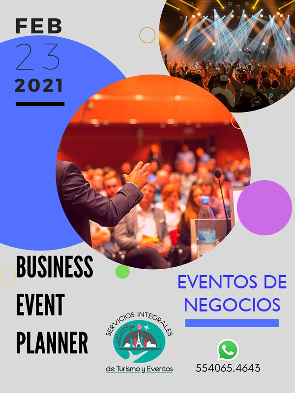Banner curso business event planner