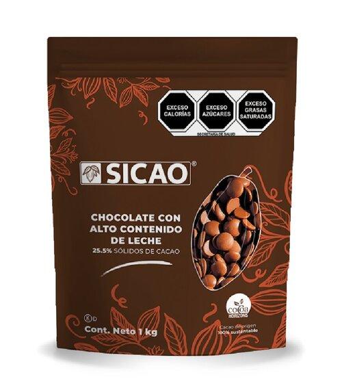 Chocolate con alto contenido de leche sicao